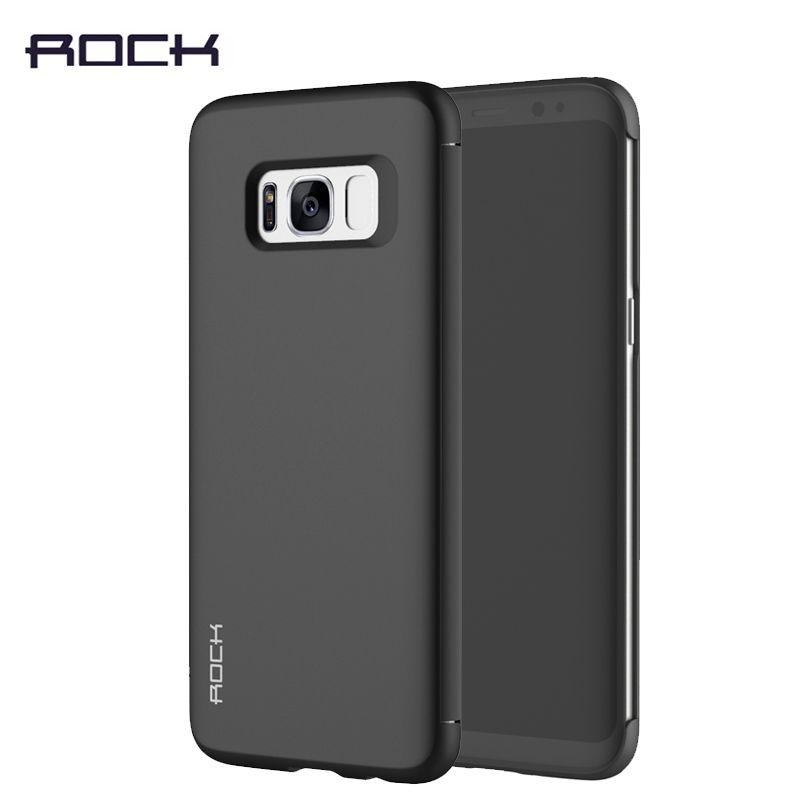 Étui pour samsung Galaxy S8 S9 Plus La Couverture Rock Dr. V invisible De Luxe Voir Fenêtre étui à rabat intelligent pour Galaxy S8/S8 Plus/S9/S9 Plus