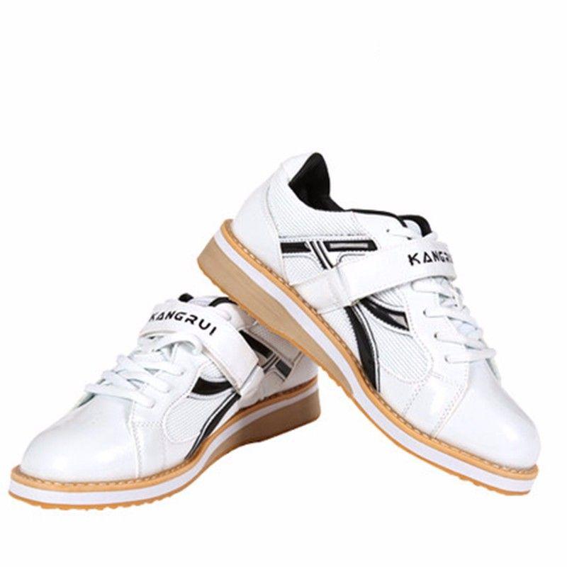 Kangrui Высокое качество Профессиональный Штангетки приседания обучение кожаные Нескользящие устойчивостью Вес подъема Обувь