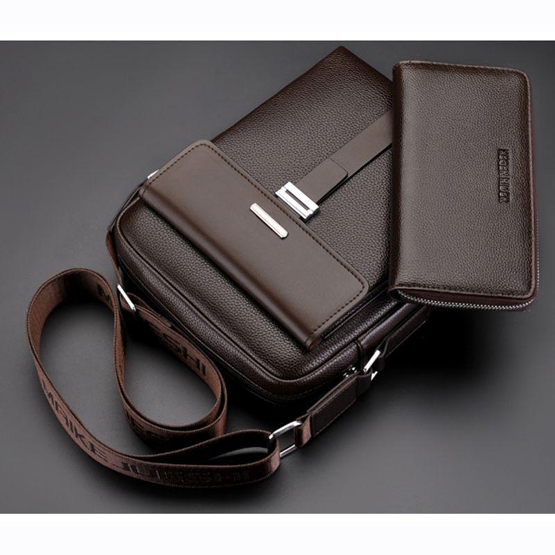 2018 New Arrival Fashion Men Business Leather Messenger Bag designer Casual Crossbody Shoulder Bag Men Bag Briefcase Promotional