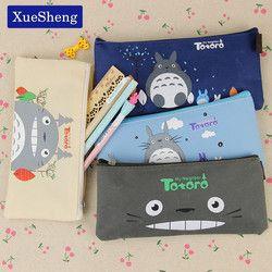 Kawaii тканевый пенал милый мультипликационный Тоторо ручки сумки для детей подарок школьные принадлежности
