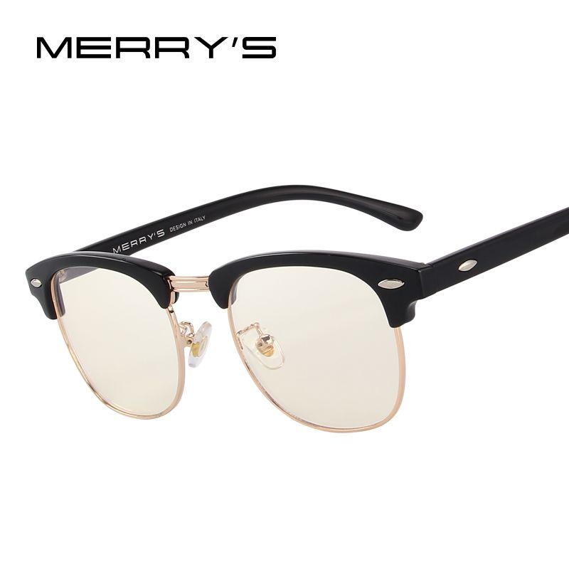 MERRYS Anti Blau Rays Computer Brille Lesebrille 100% UV400 strahlenresistente Computer Gaming Gläser S2065