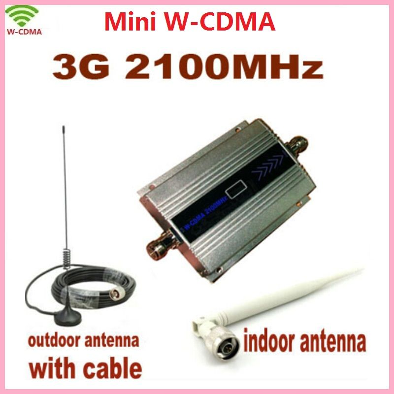 LCD Family WCDMA UMTS 3G 2100MHz Mobile Phone Signal Booster Repeater 3G Repetidor Cell Phone Signal Amplifier with Antenna
