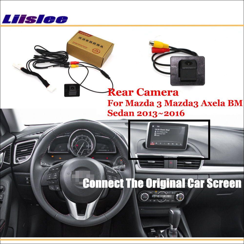 Liislee Für Mazda 3 Mazda3 Axela BM Limousine 2013 ~ 2016/Auto Ansicht-rück Kamera Sets/RCA & Original Bildschirm Kompatibel