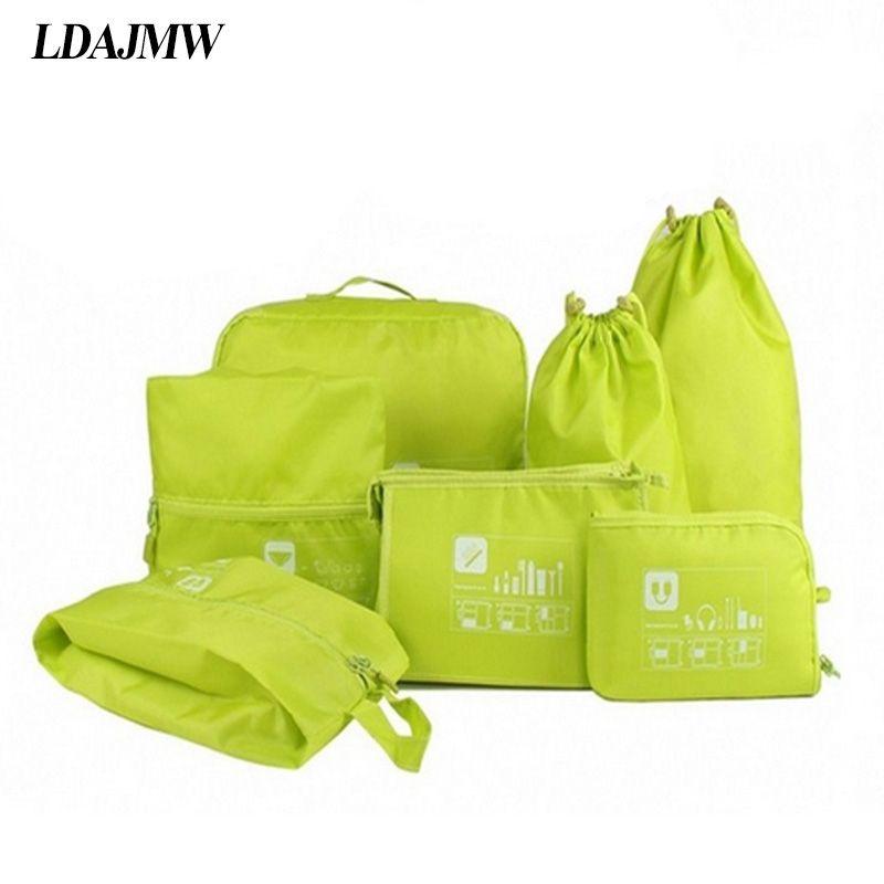 LDAJMW étui de voyage trousse de rangement de toilette ensemble vêtements ranger organisateur pochette valise sac à main maison placard diviseur tiroir organisateur