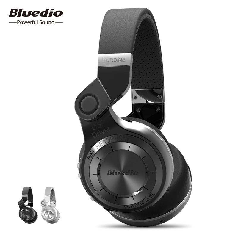 Bluedio T2 Wireless Bluetooth Headphones 3D Stereo <font><b>Headset</b></font> Hurrican Series Headphone With Microphone For Phone