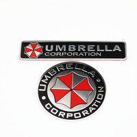 Стайлинга автомобилей 3D наклейки Алюминий сплав корпорации Umbrella Resident Evil наклейки эмблема украшения знак авто аксессуары