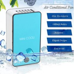 GRTCO 2018 Nouveau Mini Portable De Poche Table Climatiseur Refroidisseur De Refroidissement USB Rechargeable Batterie Sans Lame Ventilateur