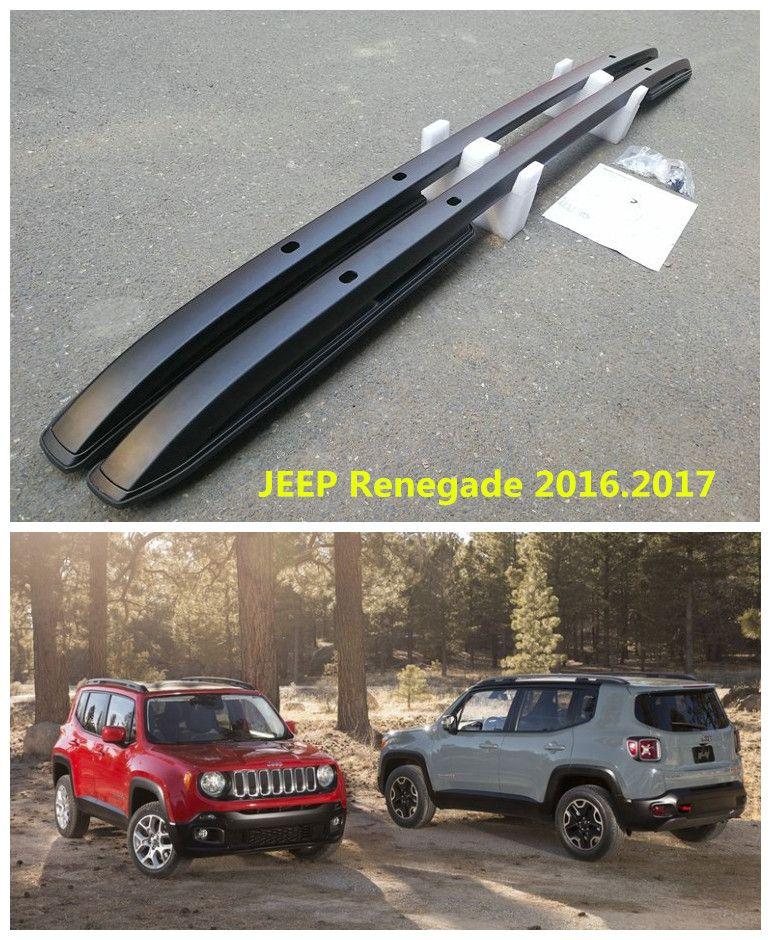 Für JEEP Renegade 2016,2017 Dachgepäckträger Auto Gepäckträger Hohe Qualität Neue Aluminium Schraube Installation Auto Zubehör