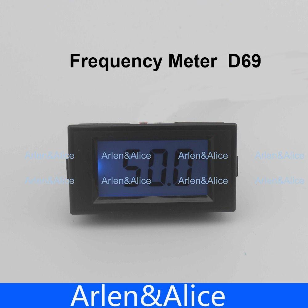 10-199.9Hz Azul LCD Frecuencia Del Metro Del Panel Digital Cimómetro Medidor Instrumentos Eléctricos 80-300 V, 150 V-500 V