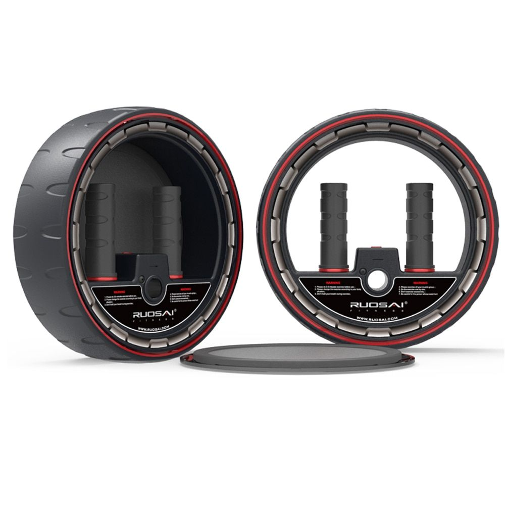 AB Rad Roller mit Elektronischen Zähler, Core-Training Rad Bauch Trainingsgeräte Übung, Pefect für Mann und Womam uesd