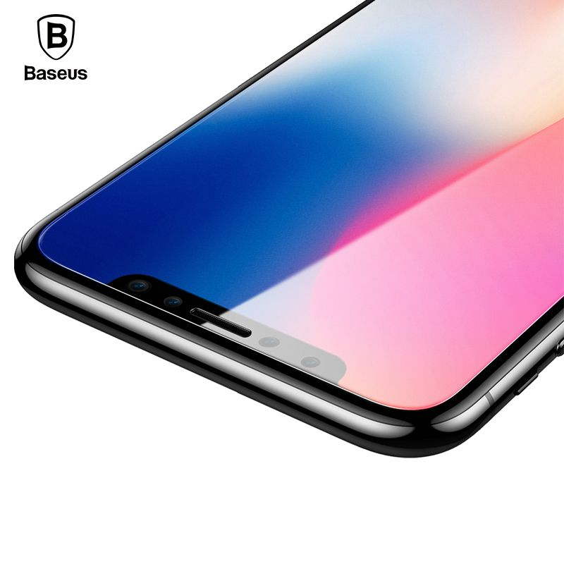 Baseus 3D Matte Glass For iPhone X PET Edge Frosted Tempered Glass For iPhone X Full Coverage Screen Protector Protective Glass