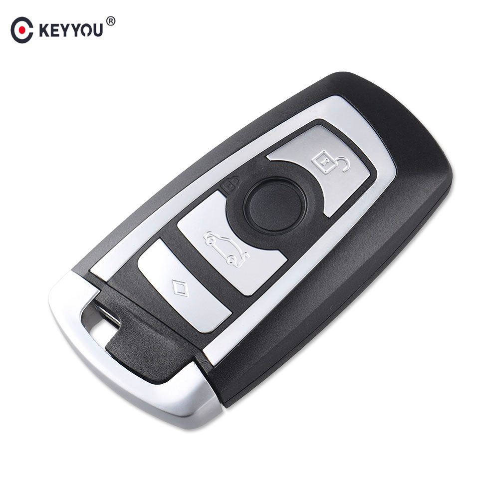 KEYYOU 4 Buttons Replacement Smart Remote Car Key Shell For BMW F CAS4 5 Series 7 Series Smart Key Case Cover