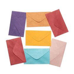Kicute 50 Pcs Rétro Conception Petit De Couleur Blanc Mini Papier Enveloppes D'invitation De Fête de Mariage Enveloppe De Voeux Cartes Enveloppe