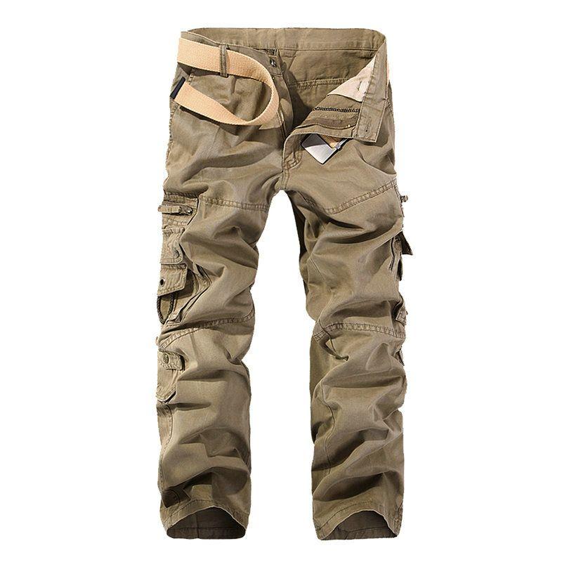 2018 Hot Tactical Mens Cargo Pants Cotton Casual Military Men Pants Solid <font><b>Pantalon</b></font> Homme