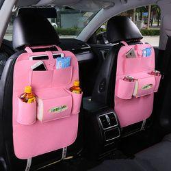 Nueva Universal 1 unid coche Auto asiento trasero Protector del coche Interior del bolso del almacenaje de la estera del retroceso de los niños accesorios Car Styling