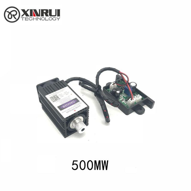 500 mw 405NM mise au point bleu violet module laser de gravure, avec TTL contrôle laser tube diode + de protection googles