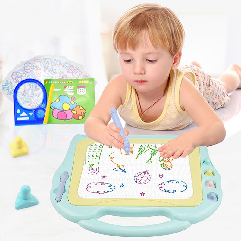 Huanger Magnetic Drawing Board Kids Painting Toys Child Preschool Educational & Learning Large Size 4 Colour Drawing Toys Gift