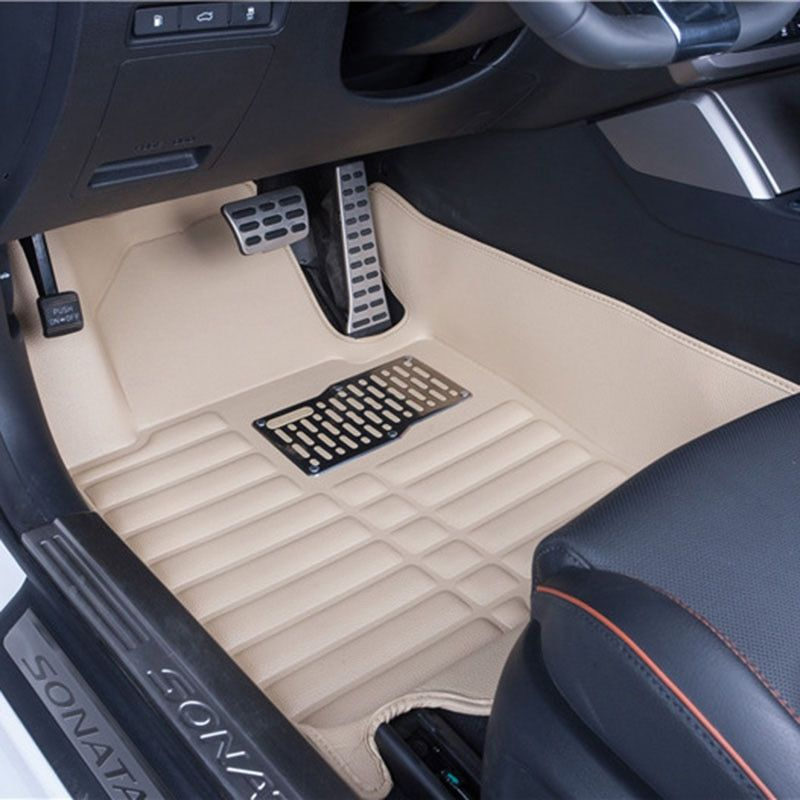 Car Floor Mats Covers top grade anti-scratch fire resistant durable waterproof 5D leather mat For Hyundai Sonata Car-Styling
