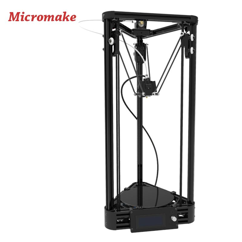 Micromake 3D Printer Pulley Version Linear Guide DIY Kit Kossel Delta Auto Leveling Large Printing Size 3D Metal Printer