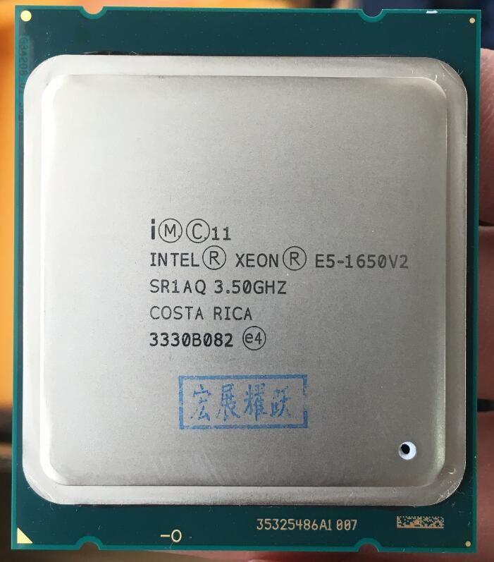 Intel Xeon Processor E5 1650 V2 E5-1650 V2 CPU LGA 2011 Server processor 100% working properly <font><b>Desktop</b></font> Processor E5-1650V2