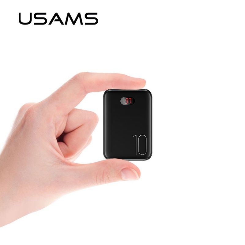USAMS 10000 mAh batterie externe pour iPhone Mini Pover banque 10000 mAh LED affichage Powerbank batterie externe appauvrbank charge rapide