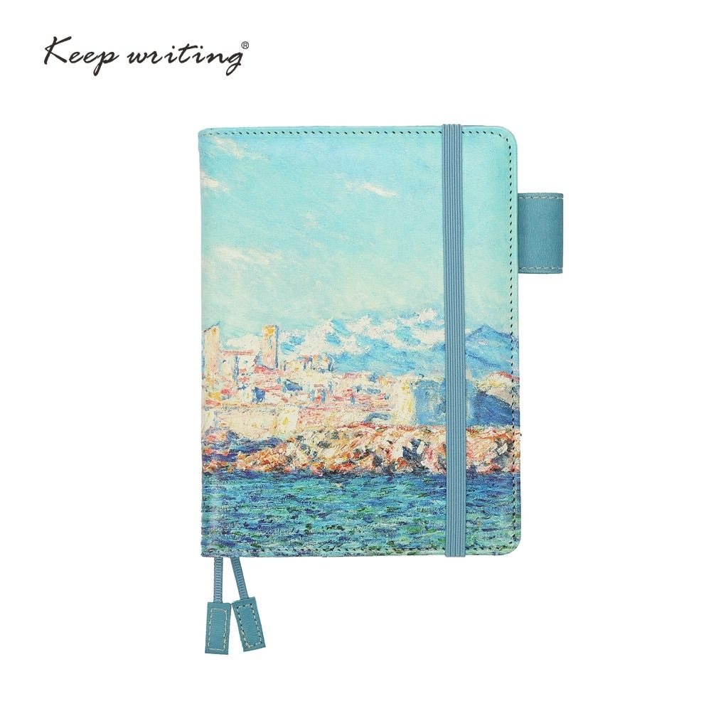 A6 <font><b>notebook</b></font> Grid Paper Lined Dotted Diary Blank pages can choose planners journal Stationery small notepad Oil painting cover