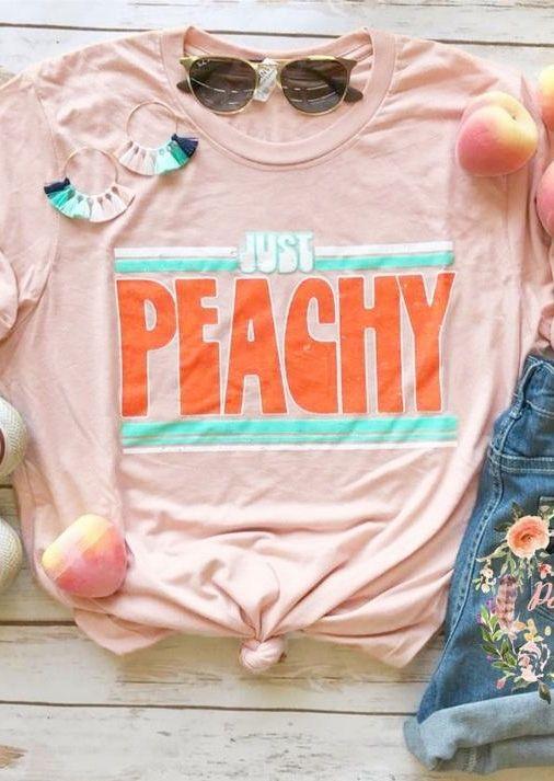 Mode femmes mignon à manches courtes T-Shirt juste Peachy lettre impression T-Shirt 2018 décontracté femme Harajuku T-Shirt dames hauts Teee