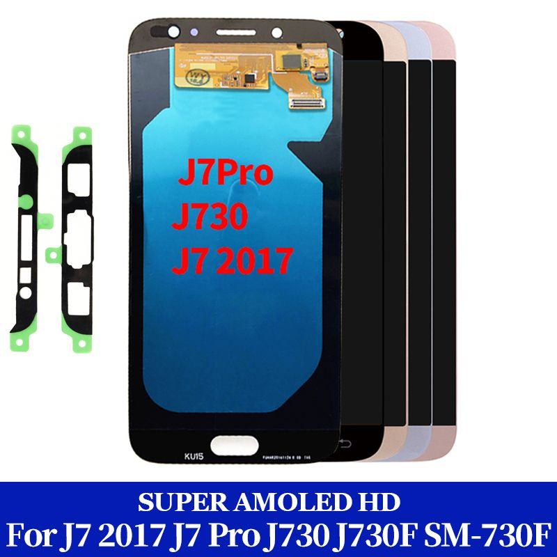 OEM AMOLED Display for SAMSUNG Galaxy J7 Pro J730 LCD For SAMSUNG J7 2017 Display Touch Screen Digitizer J730F Black White Gold