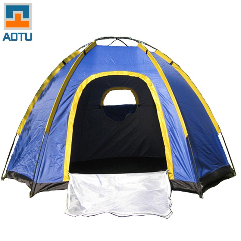 AOTU The Six Corners Camping Tent For 3-4 Persons Windproof Rainproof UV-resistant Good ventilation Outdoor Travel Portable