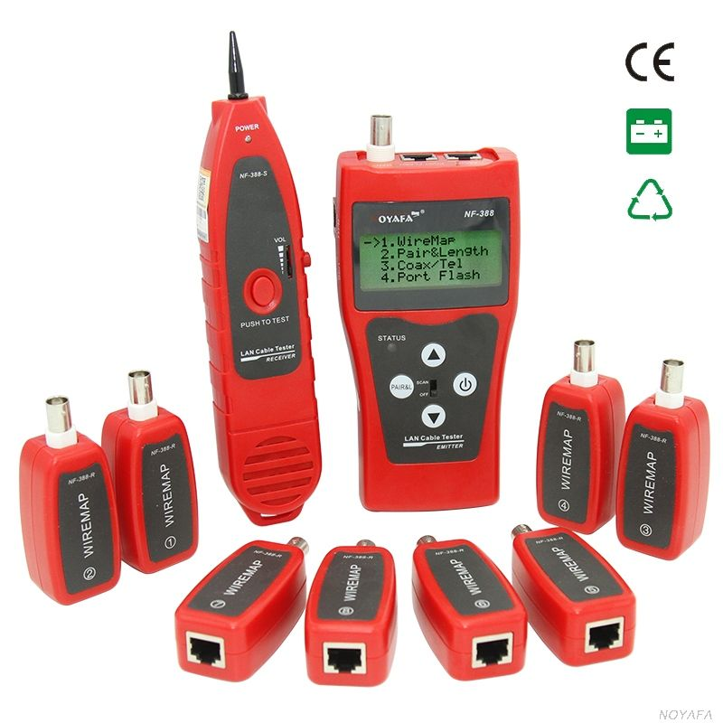 NF-388 Network coax Handheld cable tester Ethernet Wire tester Telephone Multifuctional Remote Cable Tester Tracker LCD display