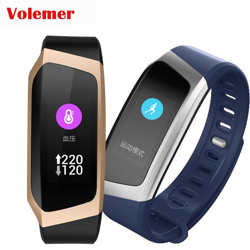 Volemer E18 bande intelligente couleur écran tactile pression artérielle oxygène Fitness Tracker Bracelet intelligent moniteur de fréquence cardiaque Bracelet