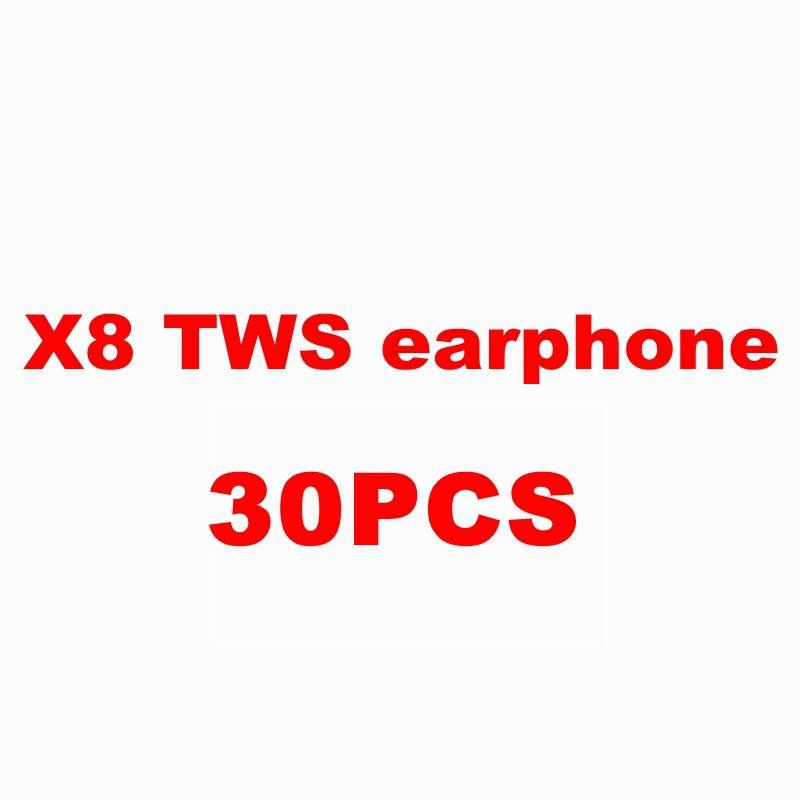 30 pc X8 kopfhörer TWS 15 stücke schwarz 10 stücke grau 5 stücke rot