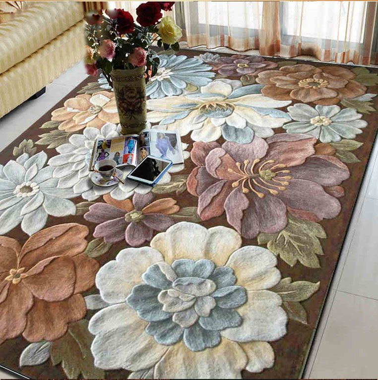 Daisy European and Amerian carpets Custom made rug with logo Large mat for Hallway Bedroom Living room 100% wool Carpets