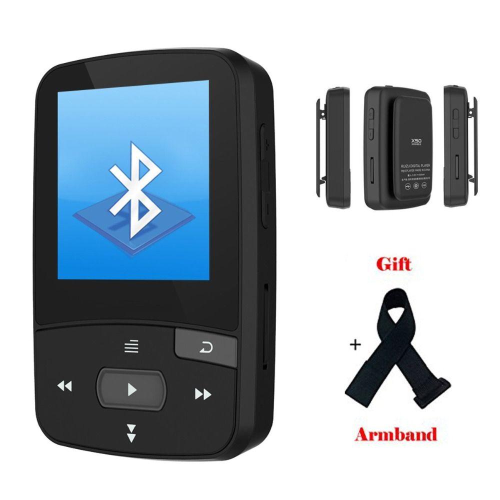 Original RUIZU X50 Mini Clip Sport Bluetooth lecteur mp3 8GB lecteur de musique prise en charge carte TF, Radio FM, enregistrement, livre électronique, chronomètre
