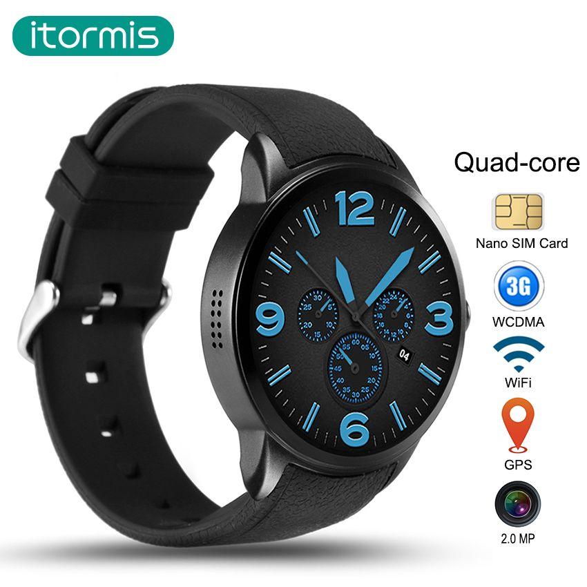Itormis carte À Puce montre Bluetooth Smartwatch Android 5.1 Téléphone SIM carte MTK6580 quad-core Rom 16G Ram 1G Wifi GPS Caméra W500