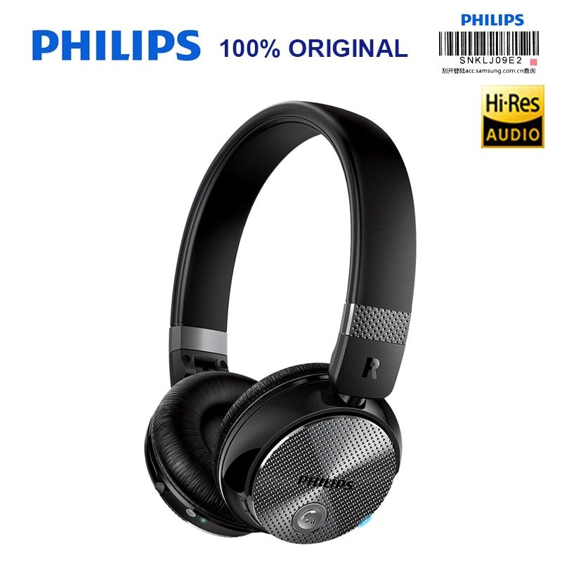 Philips Original SHB8850 Active Noise Cancelling Wireless Bluetooth Headphones NFC Headset with Microphone Official Verification