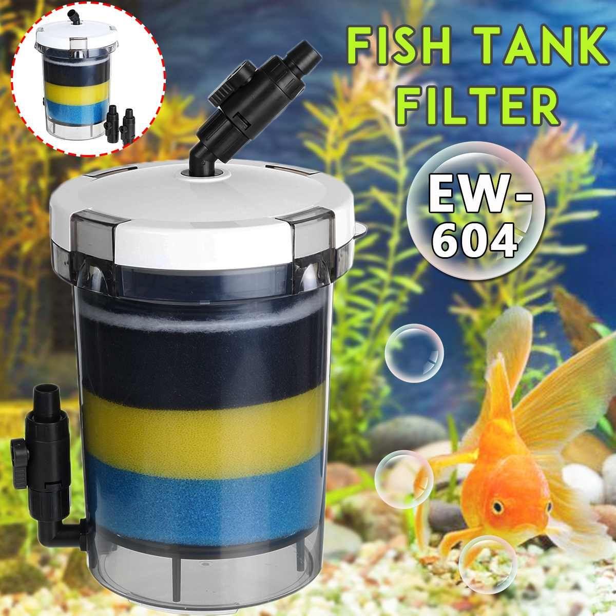 Filtre d'aquarium de filtre d'aquarium de 800L/h pour la pompe à Air d'aquarium 220-240V EW-604 seau externe de filtre d'aquarium de EW-604B