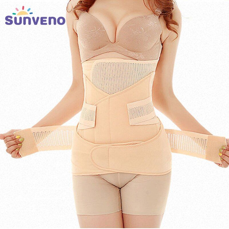 3in1 del vientre/abdomen/pelvis cinturón postparto Cuerpo recuperación shapewear vientre Delgado Corsés transpirable cintura entrenador corsé