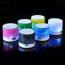Column LED Mini Wireless Bluetooth Speaker TF USB Portable Music Loudspeakers Hand-free call For iPhone 6 Phone PC with Mic