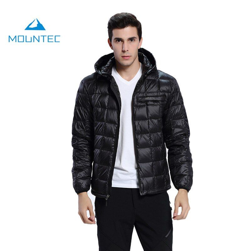Mountec 2017 Climbing Down Jacket Men Sport Waterproof Windproof Nylon Thermal Suit Outdoor Black Blue Gray Camping Down Jackets