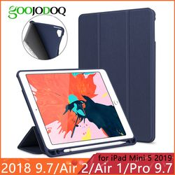 For iPad 2018 Case Pencil Holder Funda for iPad 6th Generation / Air 2 / Air 1 / Pro 9.7 / iPad Mini 5 2019 Case Smart Cover