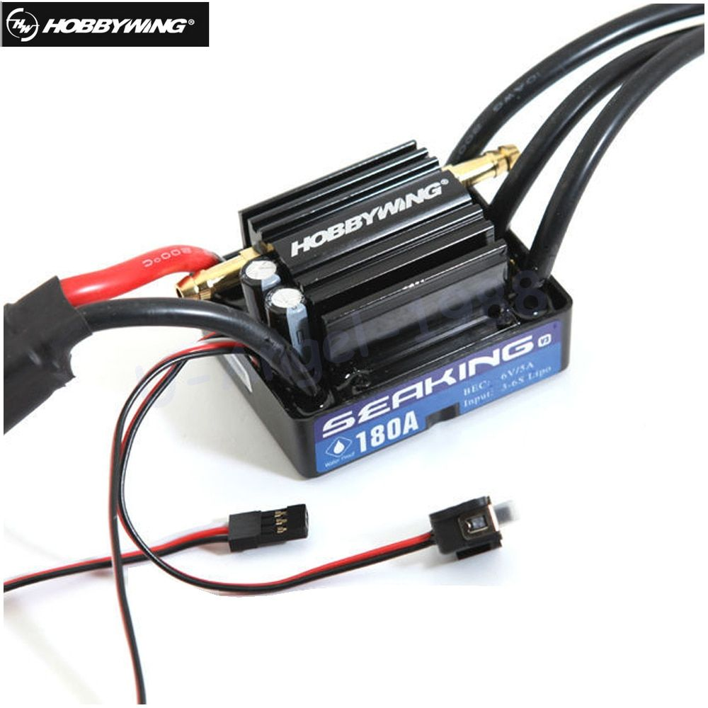 1Pcs Original HobbyWing SeaKing V3 180A BL Motor ESC 6V/5A BEC for RC R/c Racing Boat