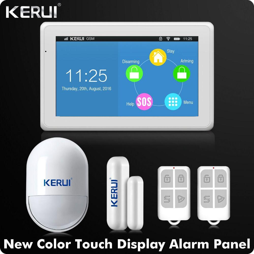 Kerui Newest arrival WIFI GSM Alarm System 7 Inch TFT Color Display KR-K7 Door Open Reminder
