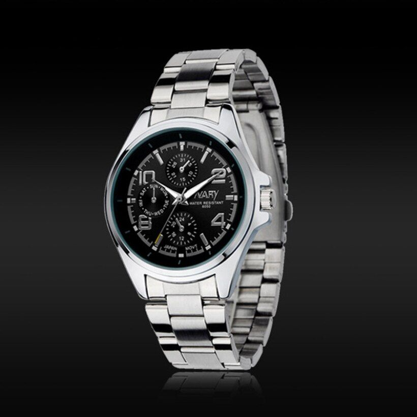NARY Creative Fashion Luxury Men Stainless Steel Classical Quartz  Wrist Watch.Watch is Brand New and High quality fashion style