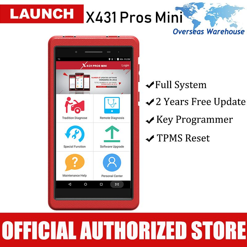 Launch X431 Pros Mini Automotive Scanner All System Car Diagnostic Scan Tool Autoscanner Diagnosis Tools ECU Coding Analyzer