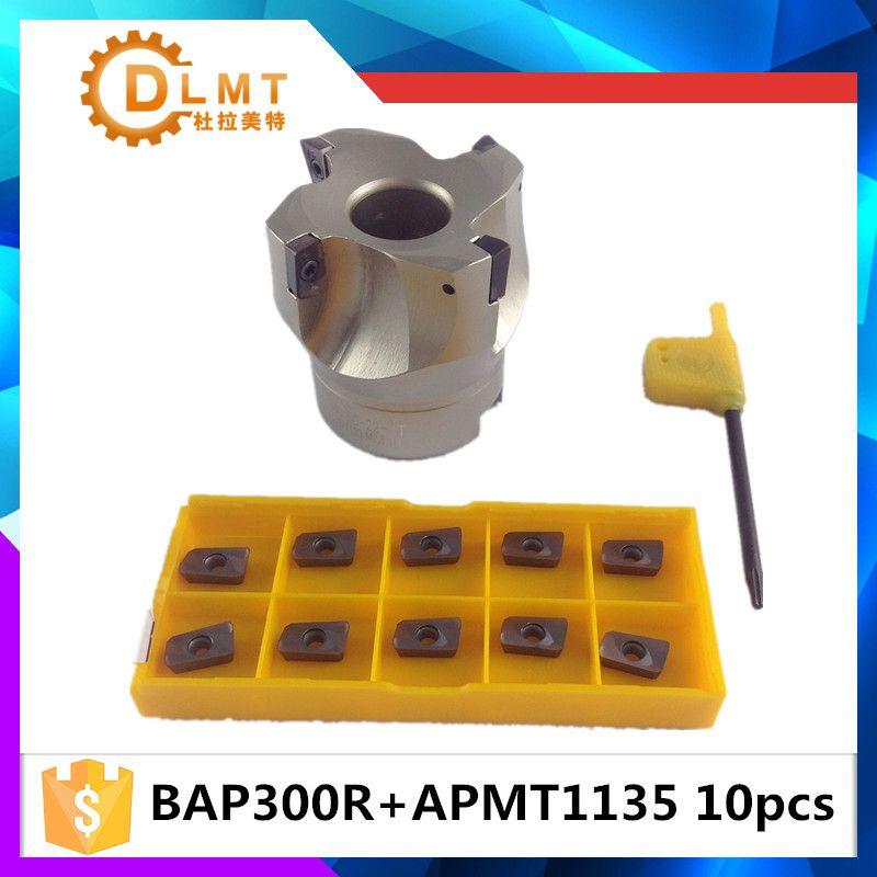 Vente chaude BAP300R 50 22 4F Flûte Visage Fraise Cutter Plat + 10 pcs APMT1604 Plaquettes Carbure APMT 1604 PDER