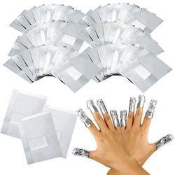 100 шт./лот алюминия Фольга Дизайн ногтей Soak Off акриловый гель для удаления обертывания ногтей Массажер