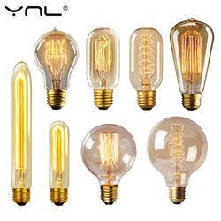 Лампочка Эдисона лампада Ретро лампа накаливания ампулы винтажные E27 40 Вт 220 В для декора лампа накаливания E27 подвесные светильники старинн...