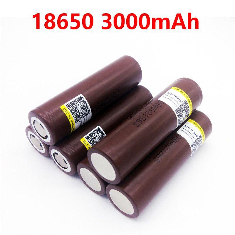 LiitoKala HG2 18650 3000 mAh 3.7V for e-cigarette 18650 30A high drain rechargeable battery or box mod flashlight