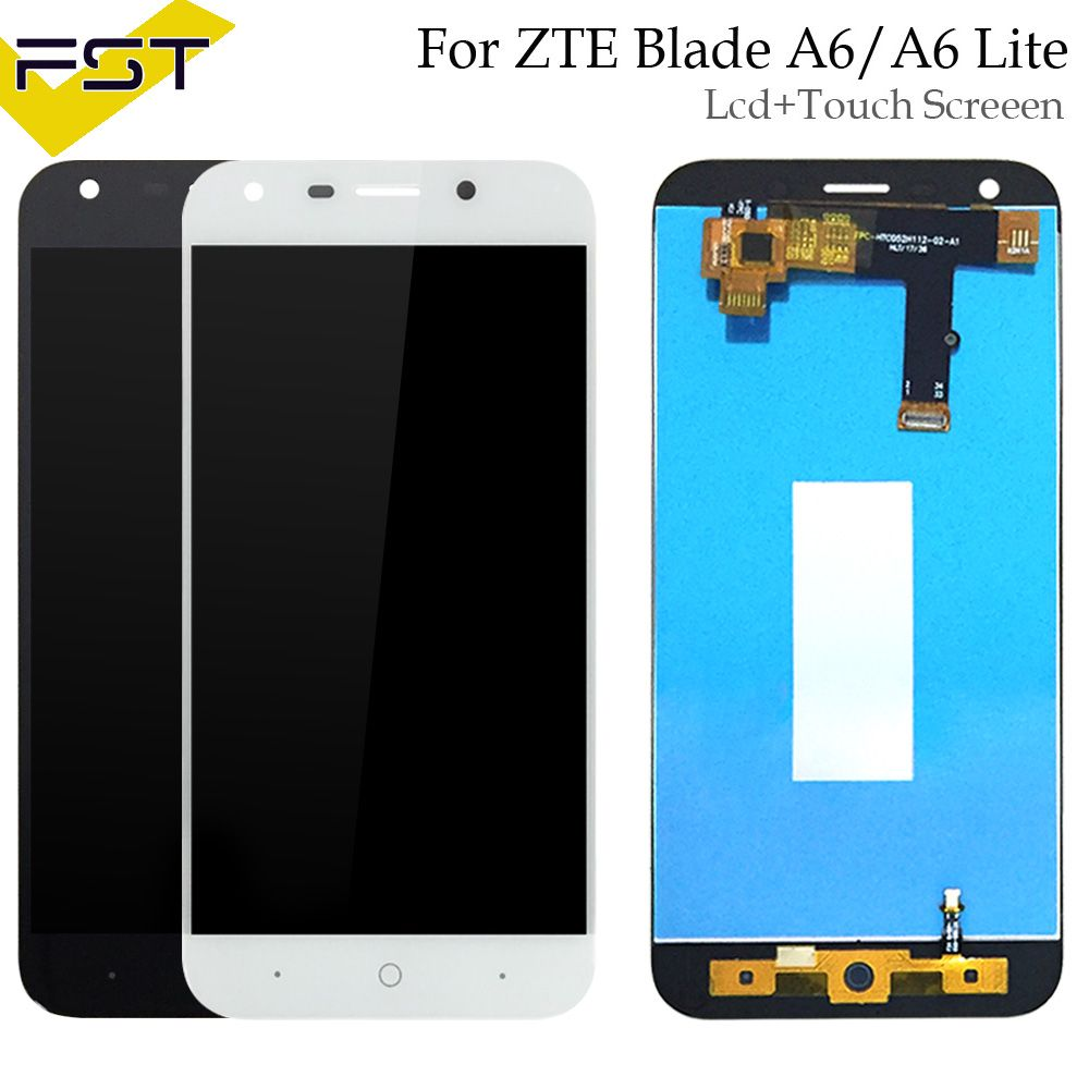 Black/White For ZTE Blade A6/A6 Lite LCD Display and Touch Screen Assembly Repair Parts With Tools+ Adhesive For ZTE Blade A0620